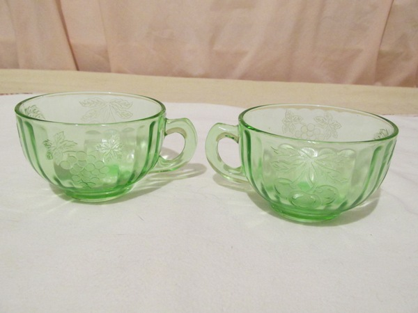 WiskeyLizard And Co Glassware Classy Green Depression Glass Patterns